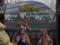 "The clever animated Main Menu from the old ""Muppet Treasure Island"" has been retained and sometimes screencaps will even pick up Gonzo."