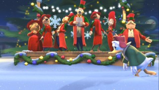 "Donald is fed up with carolers and other signs of the holidays in ""Donald's Gift."""