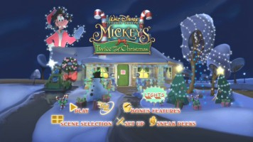 Mickey's Twice Upon a Christmas Main Menu, with Lights!