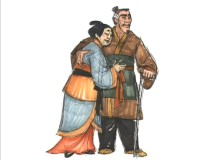 "Artwork of Mulan's parents in ""The Ballad of Hua Mulan."""
