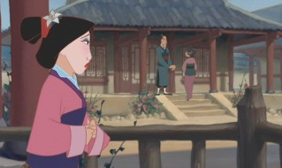 Mulan watches her parents.