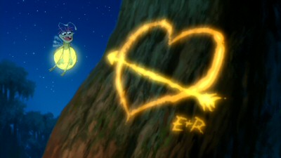 Cajun firefly Ray has his heart set upon Evangeline, who -- Tiana and Naveen don't have the heart to tell him -- is an evening star.
