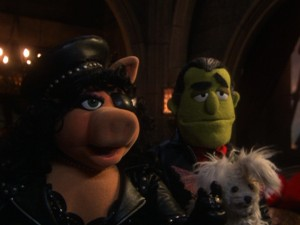 In her largest of several roles, Miss Piggy is a gruff biker chick with a mean 'tude!
