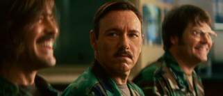 Larry Hooper (Kevin Spacey) is not nearly as amused as Lyn by their shared military training at Fort Bragg.