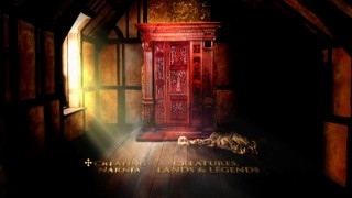 Disc 2's Main Menu depicts the enchanted wardrobe.