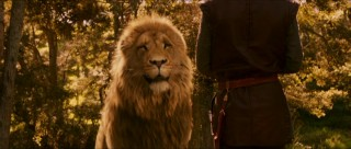 "And in case, the haloed lighting didn't clue you in, this is Aslan, the real (lion) king of Narnia who serves as ""good"" and many see as a parallel to Jesus."