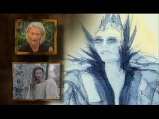 "Tilda Swinton shares thoughts on her character, while concept art shares the screen and the movie itself continues to play in ""Visualizing The Lion, The Witch and The Wardrobe."""