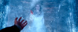"""Take (take, take), take my hand,"" sings conjured White Witch Jadis (Tilda Swinton) in a block of ice."
