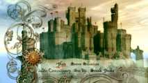 Disc 1's animated main menu features the Telmarine monarchy's castle.