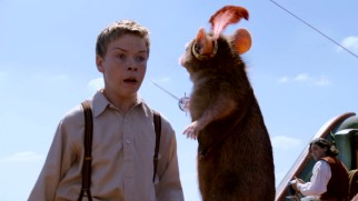 Bratty cousin Eustace Clarence Scrubb (Will Poulter) finds himself challenged to a duel by the valiant mouse Reepicheep.