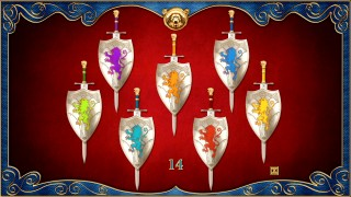 "For the ""Search for the Seven Swords"" game, you get fifteen seconds to remember the distribution of these colors."