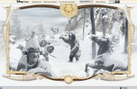 You can travel around the snowy Narnia in the main section of the website.