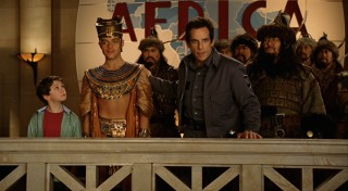 Preserved Pharaoh Ahkmenrah (Rami Malek, 2nd from left) and feared Khan Attila the Hun (Patrick Gallagher, right) are among the many beings that come to life at night.