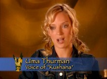 Uma Thurman discusses her role as the antagonist Princess Kushana.