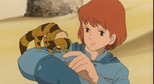 Nausicaä befriends a young fox-squirrel.