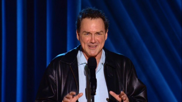 "Norm Macdonald questions the anonymity of Alcoholics Anonymous in his 2011 Comedy Central special ""Norm Macdonald: Me Doing Standup."""