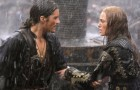"Will Turner and Elizabeth Swann grab onto each other in the rain. ""Pirates of the Caribbean: At World's End"", for now the final film in Disney's ride-spawned series of sea-set blockbusters, comes to DVD in December. Click for all the relevant info."