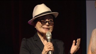 "Lennon widow Yoko Ono gives the film her blessing in her pre-premiere remarks shown in ""The Untold Story..."""