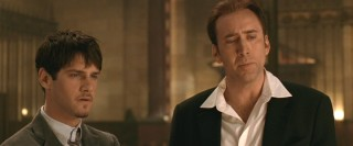 Riley (Justin Bartha) and Ben (Nicolas Cage) take a moment to reverentially observe the Declaration of Independence.