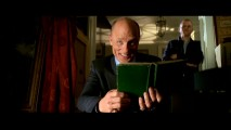 Ed Harris tries a French accent and cracks up in The Treasure Reel o' bloopers and outtakes.