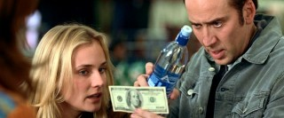 Ben uses a bottle of water to look at the back of a hundred dollar bill while Abigail (Diane Kruger) looks on. Assuming the cash in Ben's hand is all the money they spent, Aquafina made out really well with one of the most-distributed product placement shots in cinema history.
