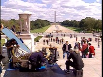 """National Treasure on Location"" lives up to its title with this footage from the shoot on the steps of the National Mall in Washington, D.C."