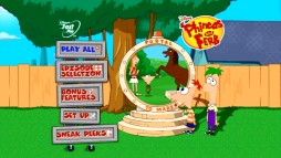 Phineas and Ferb's portal to Mars serves as a montage display on the Daze of Summer DVD's main menu.