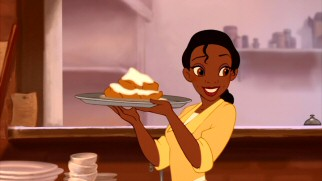 Despite the title and her preemptive admission into the Disney Princesses, Tiana is just a New Orleans waitress who believes in hard work and beignets.