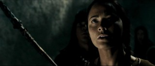 Starfire (Moon Bloodgood) is surprised to find Ghost in a cave, despite the fact that she was actively looking for him.