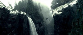 While escaping from the Vikings, Ghost falls... by some falls. The Winter X game judges are only slightly impressed.