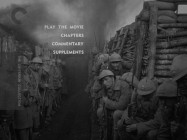 French troops line a trench in the Col. Dax P.O.V. shot employed on the DVD's main menu montage.