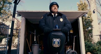 Paul Blart (Kevin James) prepares for another new day, riding to work on his mall-issued Segway.