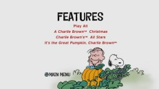 Linus and Snoopy claim both discs' Features menu. Here, they await the Great Pumpkin, something they don't actually do together.