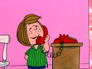 "Peppermint Patty's phone call and self-invitation is the impetus that sets ""A Charlie Brown Thanksgiving"" in motion."