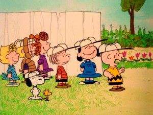 Charlie Brown is not pleased to see the Arbor Day makeover his friends have given the baseball field they've named after him.