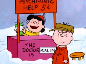 Christmas brings happiness to most children, but not Charlie Brown, who consults Lucy for a nickel's worth of counsel.