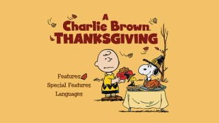 Like the others, the main menu for A Charlie Brown Thanksgiving closely resembles the DVD's cover art.