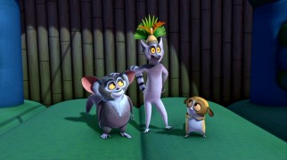 "They may not receive mention in the title, but lemurs Maurice, Julien, and Mort still feature prominently on ""The Penguins of the Madagascar."""