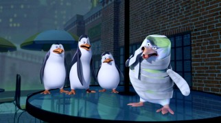"The penguins fear that a green, wrapped Skipper is undead in the title episode ""I Was a Penguin Zombie."""