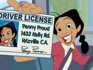 Penny finally gets her license in the extended ending,  though that's not its focus.