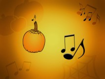 """Pass the Pumpkin"" on the right hand side. When the music stops, you leave the circle."