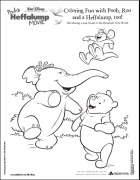 pooh heffalump coloring pages | Pooh's Heffalump Movie DVD Review