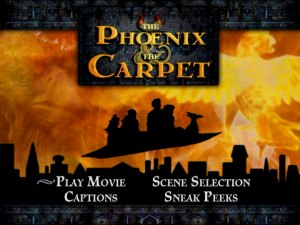"""The Phoenix & the Carpet"" Main Menu"