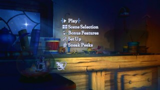 Disc 1's main menu shows us the star wished upon from Geppetto's workshop/home.