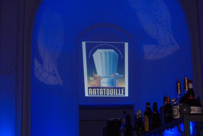 "A rotating ""Ratatouille"" display garners attention at the party for Disney/Pixar's Blu-ray Disc debuts."