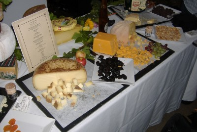This table offers a variety of cheese samples... bet Remy would like it here.
