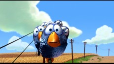 "Blue birds of a feather mock together in Pixar's most recent Oscar-winning short, ""For the Birds."""