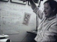 "A young John Lasseter demonstrates his work on ""Red's Dream"" in archival video found in ""The Pixar Shorts: A Short History."""
