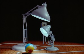 "The bouncy lamp long seen in Pixar's company logo and his father are the stars of the first short to bear the studio's name, 1986's ""Luxo Jr.""."
