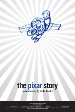"The one-sheet poster artwork for ""The Pixar Story"" also employs Buzz Lightyear, this time in pencil animation."